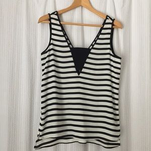 Express Striped Sleeveless Top